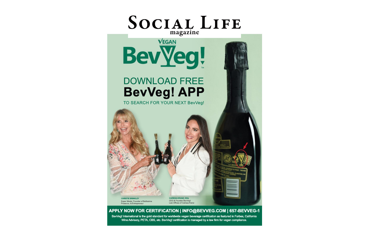 Hamptons Social Life Magazine: BeVeg Featured with Christie Brinkley