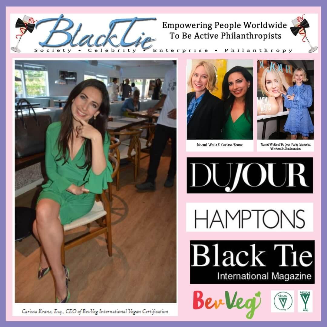 Black Tie Magazine featured Carissa and BeVeg