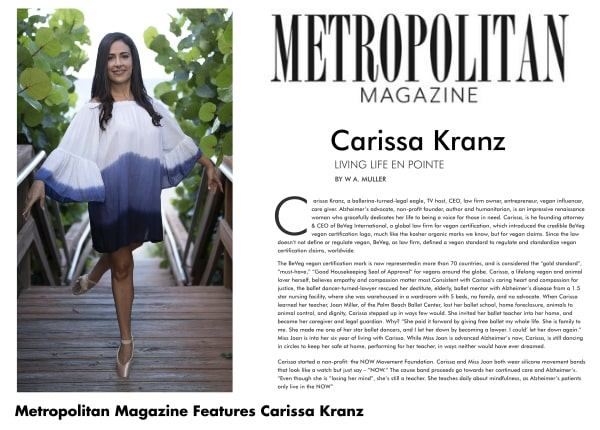 Metropolitan Magazine: Celebrity Profile