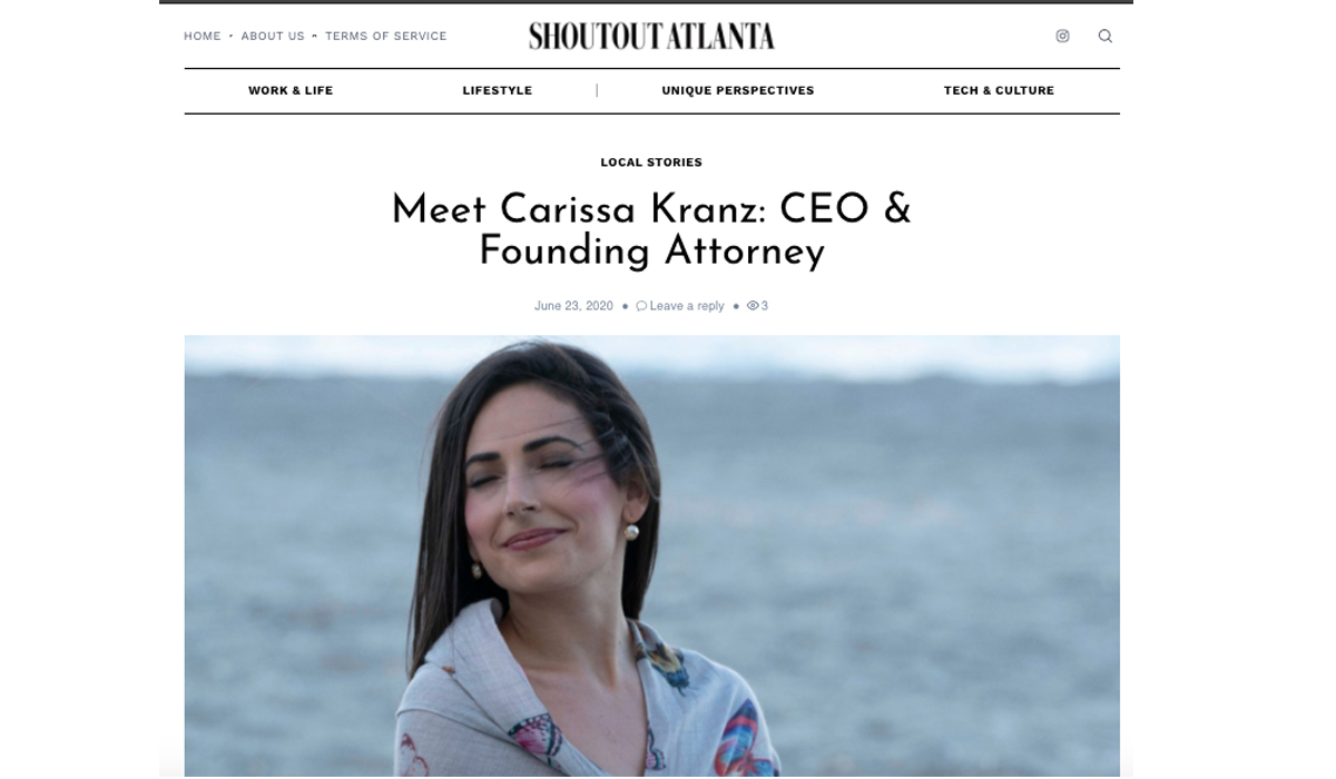 SHOUTOUTATLANTA: Meet Carissa Kranz: CEO & Founding Attorney