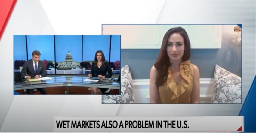 Newsmax TV National Report:  COVID Crisis & Wet Markets.